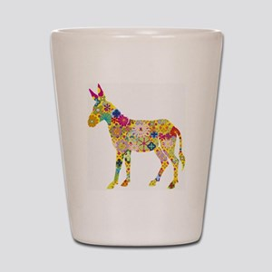 Flower Donkey Shot Glass
