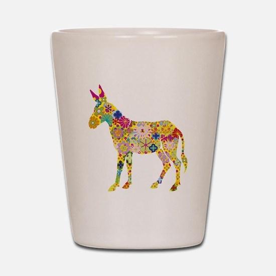 Flower Donkey Shot Glass