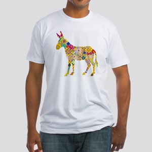 Flower Donkey Fitted T-Shirt