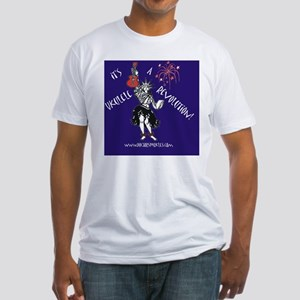 ukulele Revolution button Fitted T-Shirt