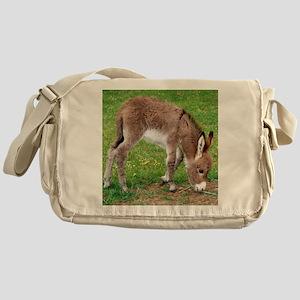 Newborn Donkey Foal Messenger Bag