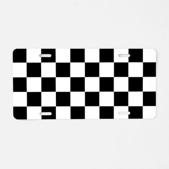 Checkerboard Aluminum License Plate