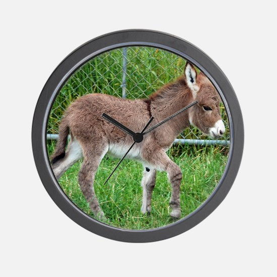 Miniature Donkey Foal Wall Clock