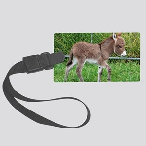 Miniature Donkey Foal Large Luggage Tag