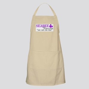 "Seabee fiancee ""we can do too BBQ Apron"