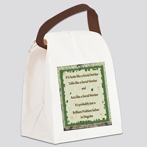 brilliant problem solver Canvas Lunch Bag
