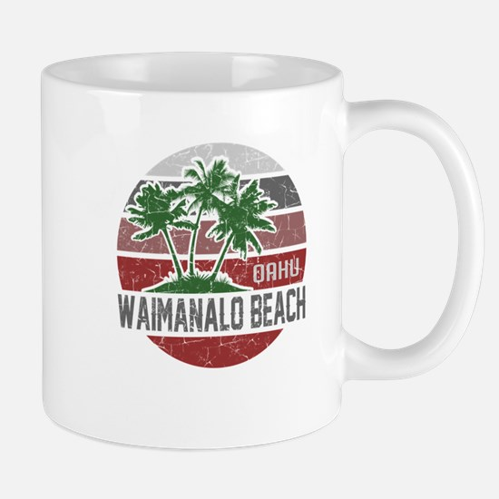 WAIMANALO BEACH OAHU Mugs