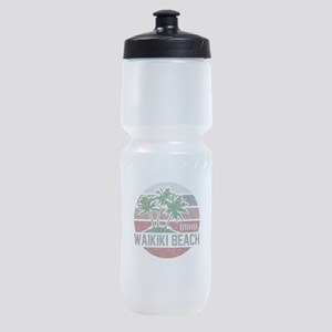 WAIKIKI BEACH OAHU Sports Bottle