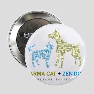 "10010_KarmaCat_ZenDog_Logo 2.25"" Button"