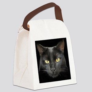 Dangerously Beautiful Black Cat Canvas Lunch Bag