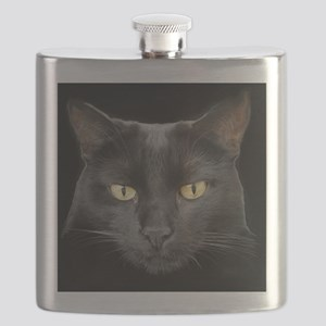 Dangerously Beautiful Black Cat Flask