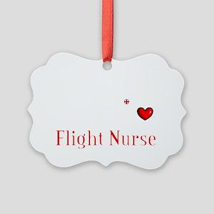Flight Nurse QRS dark shirts Picture Ornament