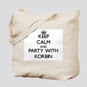 Keep Calm and Party with Korbin Tote Bag