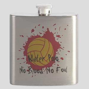 NoBloodNoFoulWhite Flask