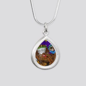 nativity 2 Silver Teardrop Necklace