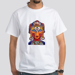 "Bickman ""Christ-Buddha"" White T-Shirt"