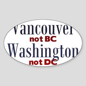 VancouverWA Sticker (Oval)