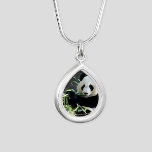 panda2 - Copy Silver Teardrop Necklace