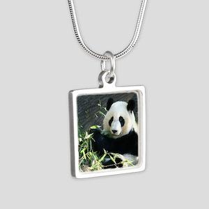 panda2 - Copy Silver Square Necklace