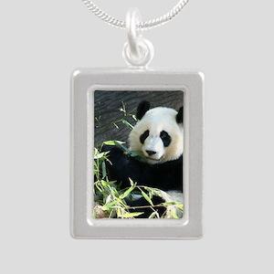 panda2 - Copy Silver Portrait Necklace