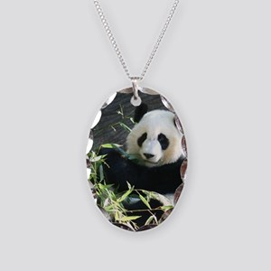 panda2 - Copy Necklace Oval Charm