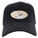 Whippet Black Cap with Patch