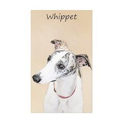 Whippet Sticker (Rectangle 10 pk)