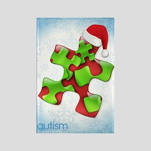autism-xmas-card1rg Rectangle Magnet