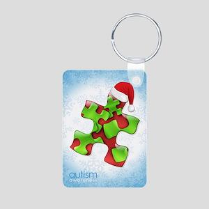 autism-xmas-card1rg Aluminum Photo Keychain