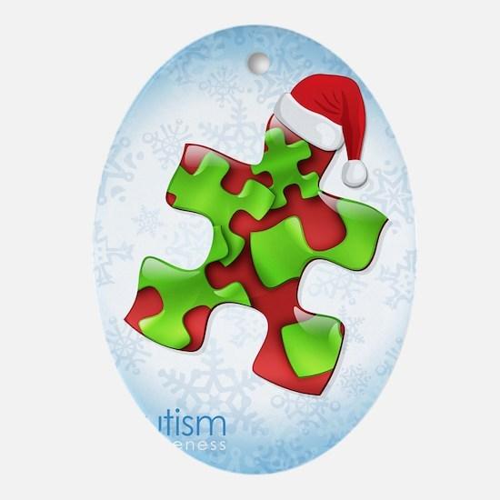 autism-xmas-card1rg Oval Ornament
