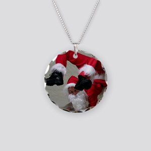 Father Twistmas Necklace Circle Charm