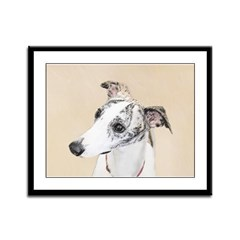 Whippet Framed Panel Print