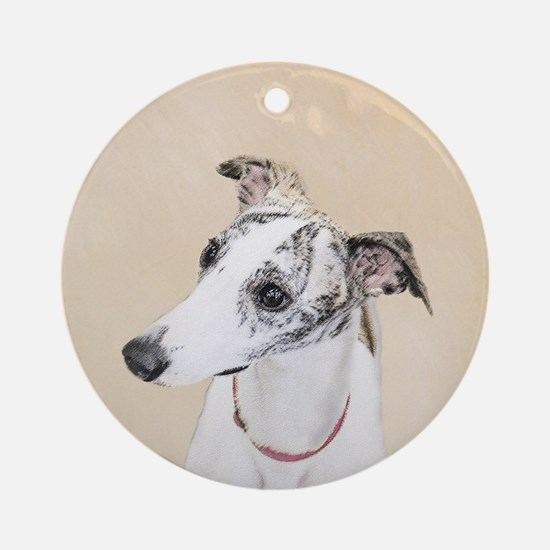 Whippet Round Ornament