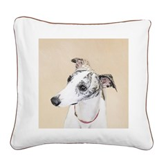 Whippet Square Canvas Pillow