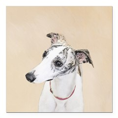 Whippet Square Car Magnet 3