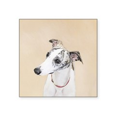 Whippet Square Sticker 3