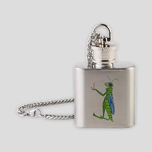 Grasshopper Flask Necklace