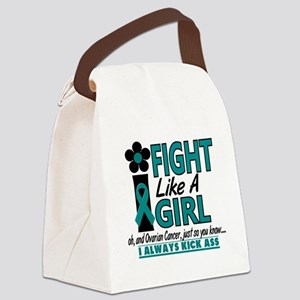Ovarian Cancer Canvas Lunch Bag