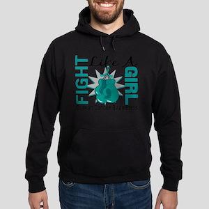 Fight Like A Girl Ovarian Cancer 8.3 Hoodie (dark)