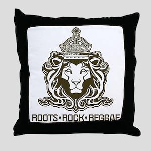 roots rock reggae qr2 Throw Pillow