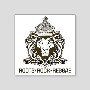 "roots rock reggae qr2 Square Sticker 3"" x 3"""