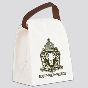 roots rock reggae qr2 Canvas Lunch Bag
