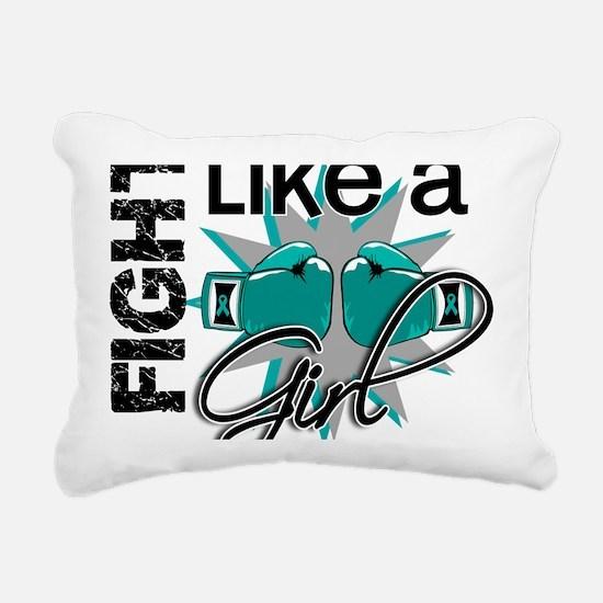Fight Like A Girl Ovaria Rectangular Canvas Pillow