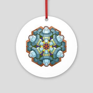 Sparkplug Mandala Round Ornament