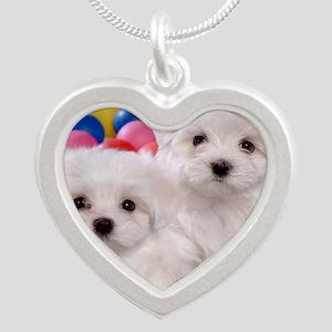 bishonFB panel Silver Heart Necklace