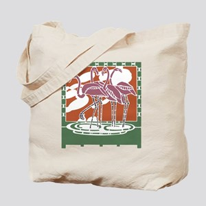 Art Nouveau Flamingos Tote Bag