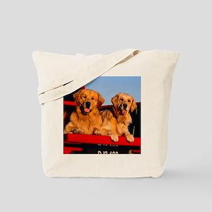 Golden PU tile Tote Bag