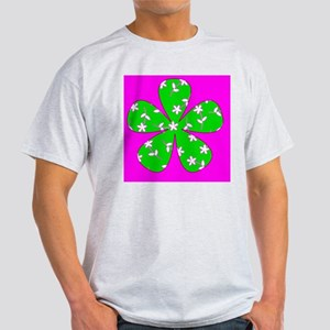 Pink Green Floral Designer St. Patri Light T-Shirt