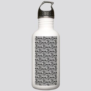Black and Gray Circles Stainless Water Bottle 1.0L