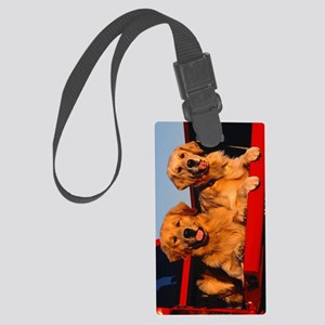Golden PU journal Large Luggage Tag